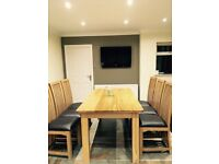 6 Seater Oak wood Dining Table