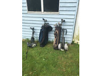 2 sets Golf Clubs, Bags and Trolleys