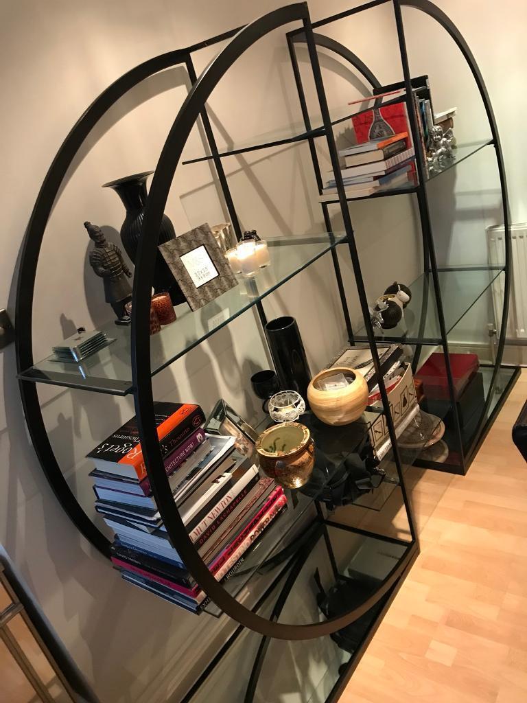 buy online 5bee9 4ce37 Glass & metal circular bookshelf / display stand | in Liverpool City  Centre, Merseyside | Gumtree