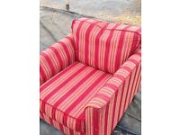 Stripy red chair