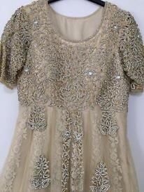Beige Designer Wedding Dress *BRIDE*