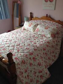 Ikea Rosali bedspread and pillows