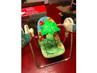 Fisher Price Rainforest Open top Take-along Baby Swing