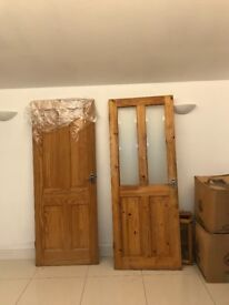 2 pine doors. Free but must collect.