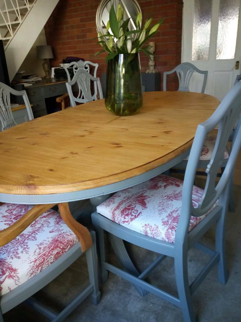 Gorgeous Farmhouse Dining Table 6 Chairs Gloucester Road