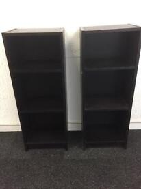 2 x Ikea book cases Black