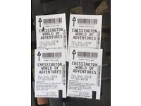 4x chessington ticket