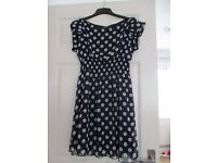 Beautiful Blue spotted dress by Tramp. Size 12