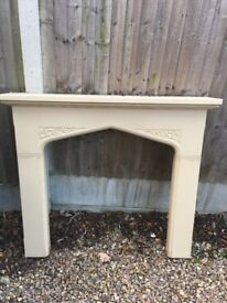 Fireplace surround, wood with stone effect. FREE