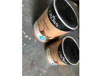 Crown matte emulsion snowfall grey paint (7.5L in total)