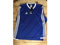 Adidas climalite stay cool long sleeve top football Blue White