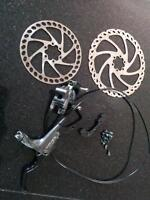 Hayes Nine Front Disc Brake 8 inch Rotor and adapters