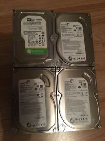 4 hdd's 3 500GB 1 320GB