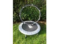 Exercise trampoline and exercise hoop