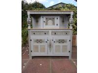 Large Solid Oak Bevan Funnel Court Cupboard/Buffet/Dresser