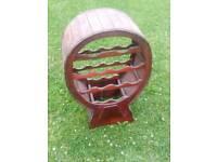 Wooden wone rack