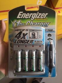 Energizer AA re-batteries x4 with charging unit 2500mah new RRP £19.99