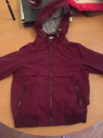 Boys burgundy jacket 6-7