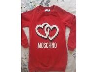 Girls Moschino jumper age 8