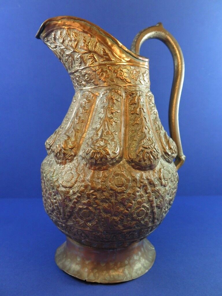 Antique Arabic Persian Middle Eastern Copper Jug Ewer