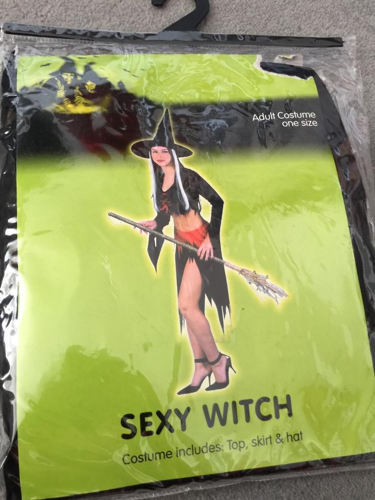 Brand-new sealed in bag sexy witch costume one size