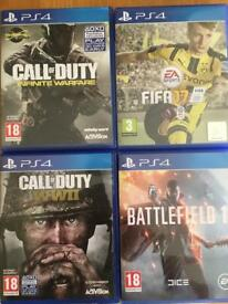PS4 games FIFA 17 - CALL OF DUTY - BATTLEFIELD 1