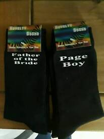 Father if the Bride & Page Boy Socks Brand New
