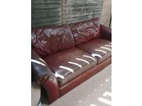 Lovely leather sofa