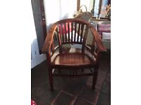 Dark Wood Indonesian Chair from Country & Eastern
