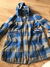 Next checked ladies coat jacket size 10