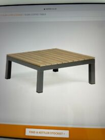 Kettler Elba low lounge coffee table for garden