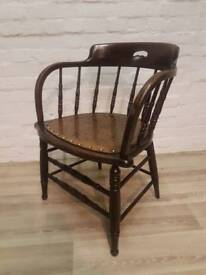 American Oak Captains Chair (DELIVERY AVAILABLE FOR THIS ITEM OF FURNITURE)