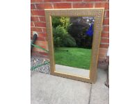Gold living room mirror