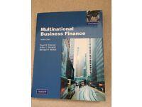 Multinational Business Finance, author David Eiteman, 12th ed.