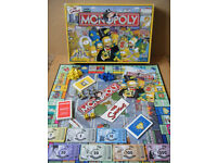 """Monopoly """"THE SIMPSONS"""" by Parker Games 2003. Complete"""