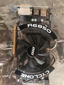 MSI Cyclone R6850 PCIe x16 2.1 GPU 1GB Radeon
