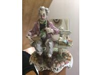 Capodimonte old tramp on bench