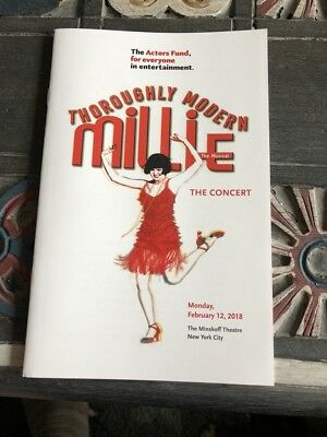 Thoroughly Modern Millie-Sutton Foster 1 Night Reunion Concert Program