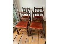 Ercol 4 Vintage dining chairs