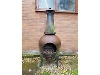 chiminea. cast iron. very heavy. must be able to collect