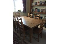 Large Ikea dining table and chairs