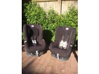 Two BRITAX Romer Eclipse Group 1 Car Seats in Cosmos Black £50 each/ £90 pair