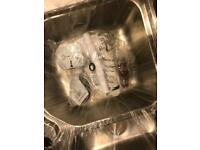 Brand new 1 1/2 bowl stainless steel sink