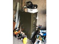 Old military green filing cabinet