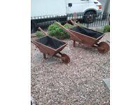 Wheel barrow planters new