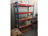 Easy assemble Metal Shelving with chipboard shelves - ideal for garage use