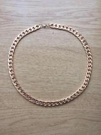 """Gold plated 24"""" inch 10 mm wide necklace chain"""
