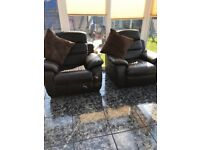Modern Electronic leather armchairs