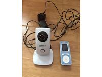 Video baby monitor with camera and night vision