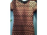 Pink Aztec contour dress from candy couture